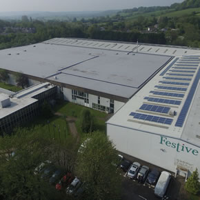 Prefabricated roofing system supplied to Festive factory