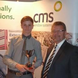 CMS' Nat Boyle with winning apprentice, Ryan Gagg
