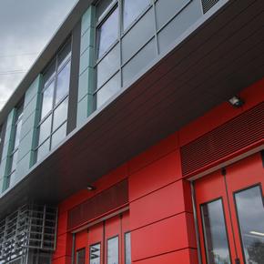 HUECK aluminium systems at Mitcham Fire Station