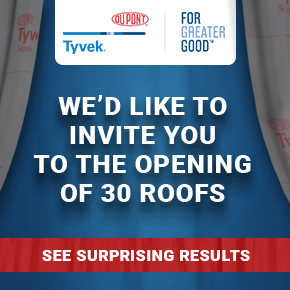 DuPont Tyvek tests water tightness in 30 roofs
