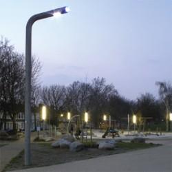 LED lighting in Fordham Park