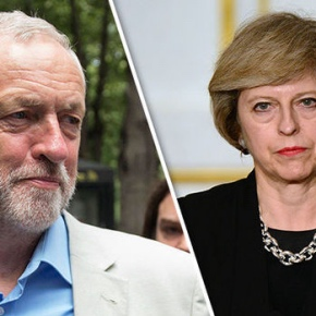 Jeremy Corbyn and Theresa May ahead of the 2017 Snap General Election