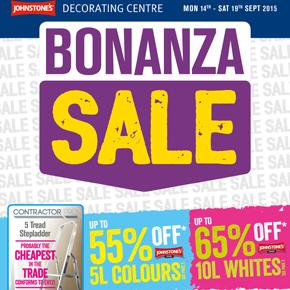 Johnstone's Decorating Centres Bonanza Sale Sept 2015