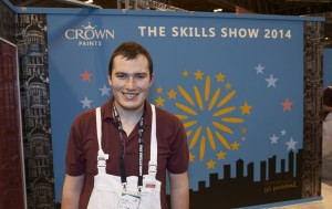 The winner of last year's Crown Trade Apprentice Decorator of the Year title, Jordan Jeffers of Southern Regional College.