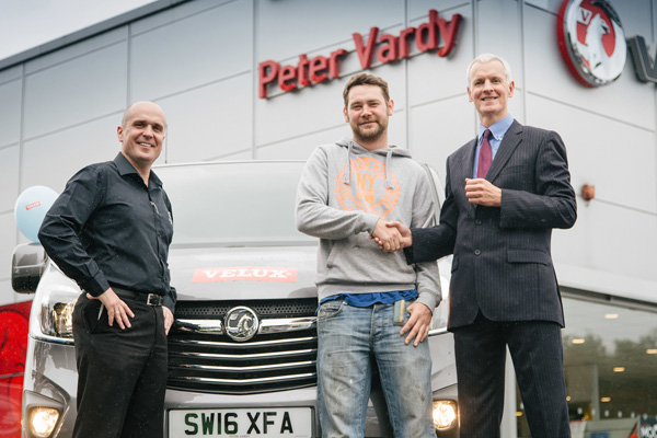 Justin Fotheringham from Peter Vardy Vauxhall, Perth, Keven and John Quigley from Velux.
