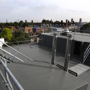 Kemperol 2K-PUR by Kemper System was specified for the roof refurbishment at Greenwich Theatre