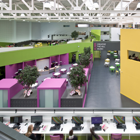 Cluster of classrooms and social spaces at John Bosco Arts College