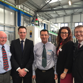 (L to R) Kelvin Price (WG), Tim Hanlon (SGG), Ian Barnett (WG), Louise Oldham (WG) and James O'Donoghue (SGG)