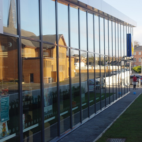 Curtain walling at Lidl's Northern Ireland concept store
