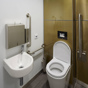 Maxwood washroom for Broadgate Quarter