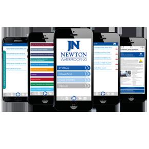 Newton Waterproofing App on iPhone