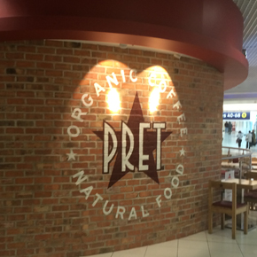Pret coffee shop with Northcot bricks