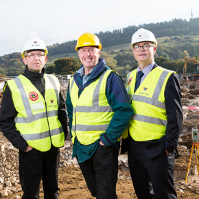 Novus at the site of the new eco-building