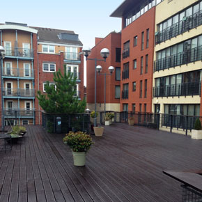 Rooftop terrace protected with Sadolin Classic
