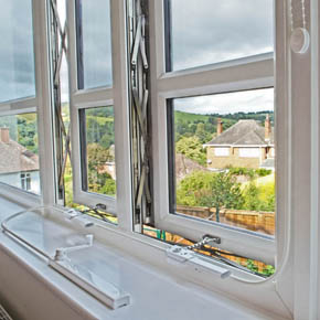 Parallel windows in REHAU TOTAL70 have been installed at the new Steiner Academy in Exeter
