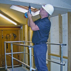 The Plasterer's Mate safety platform for low-level interior projects