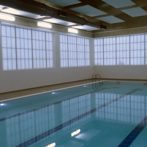 Kalwall translucent cladding installed at a hydrotherapy centre