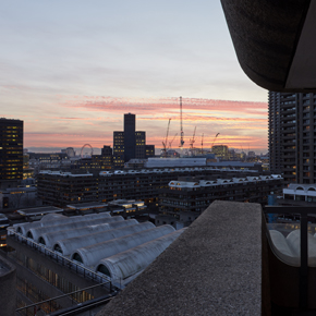 Views from the Barbican apartment