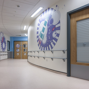 Gradus' wall protection systems at the Queen Elizabeth Hospital