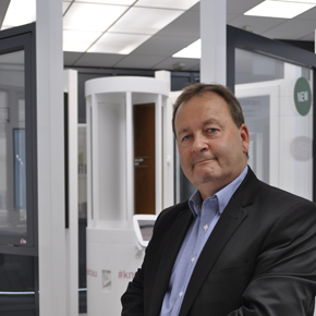 REHAU's Kevin O'Neill at the REHAU Hub in the Building Centre