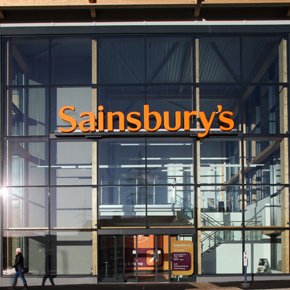SF52 curtain walling system at a Sainsbury's supermarket