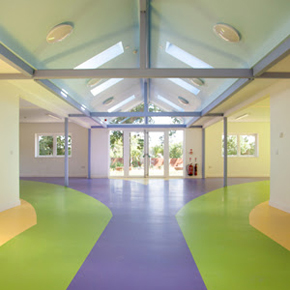 Sika's ComfortFloor Pro flooring system at the Rainbow Legacy House