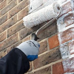 The application of Safeguard Europe's Stormdry Masonry Protection Cream