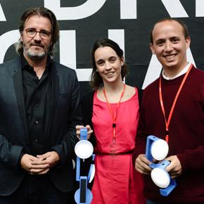 Natural Light Design Competition winners Mariana Arando and Luca Fondello.
