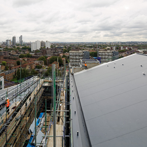 Sika Trocal roofing membrane on Park Plaza Riverbank hotel