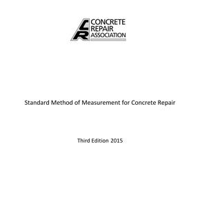 Standard Method of Measurement for Concrete Repair booklet