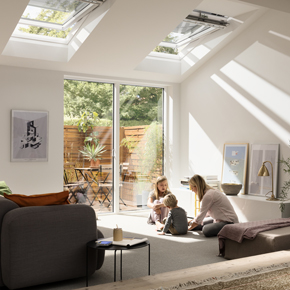 VELUX white-painted roof window