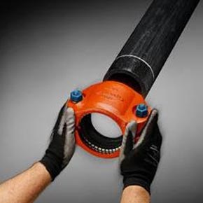 Victaulic's new Refuse-to-Fuse technique enables coupling of large and small-diameter pipes without fusing in just a matter of minutes. The installation is very simple, requiring only a socket or impact wrench.