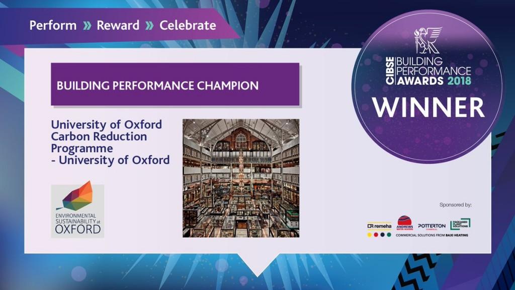 cibse award winners details oxford