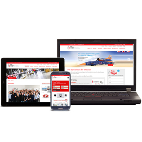 New FFE website on multiple devices