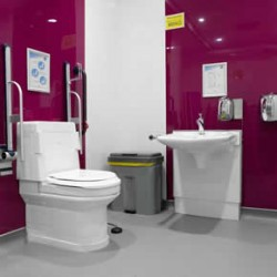 Wash and dry toilets in Cadbury World