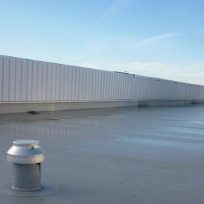 PROVAC vacuum roofing installation