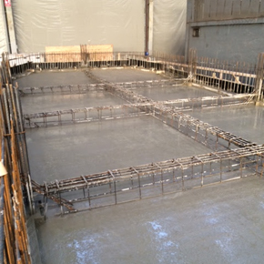 Watertight Concrete solution applied to the concrete hull